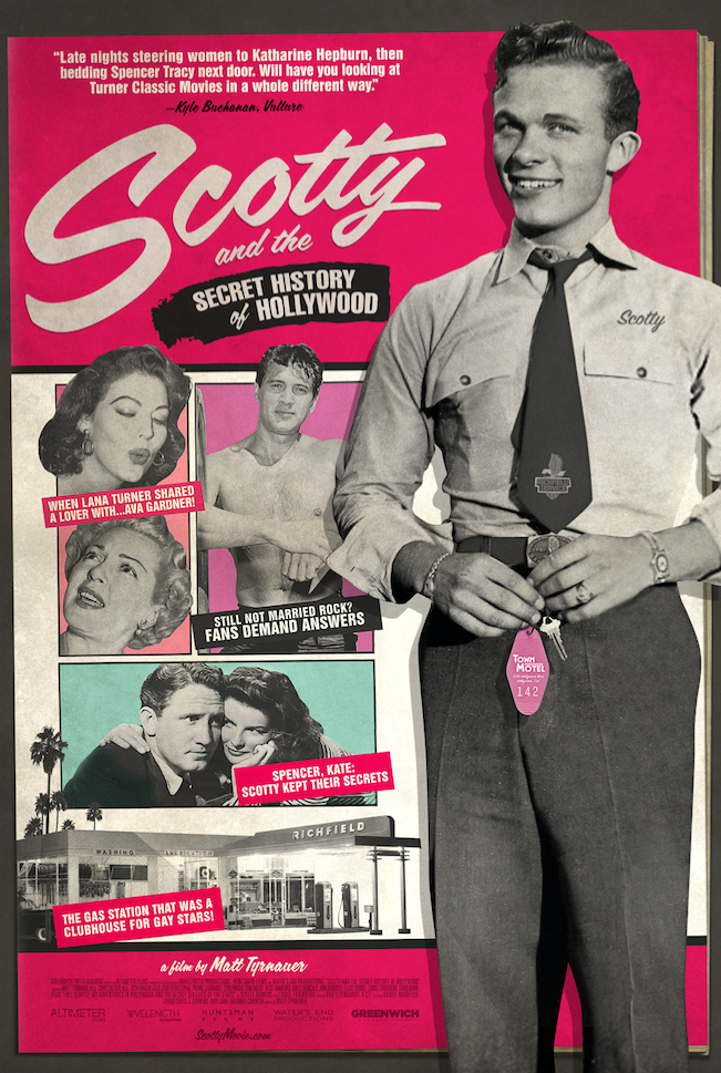"""A movie poster for """"Scotty and the Secret History of Hollywood."""""""