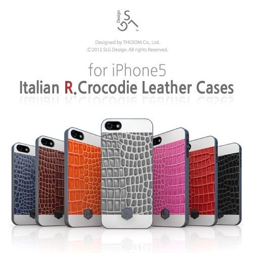 D2 Italian R.Crocodile Leather Case for iPhone 5 at U$48.99