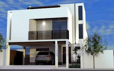 14 Fachadas de casas pequenas con balcon
