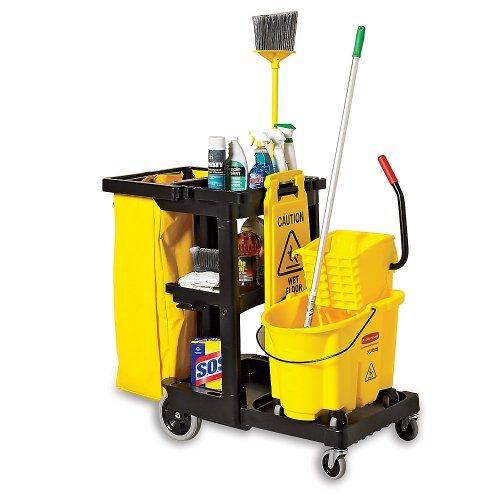Deal Finder Rubbermaid Janitor Black Commercial Cleaning Rubbermaid Catering Equipment