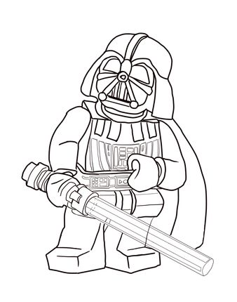 Lego Star Wars Darth Vader coloring page | SuperColoring.com ...