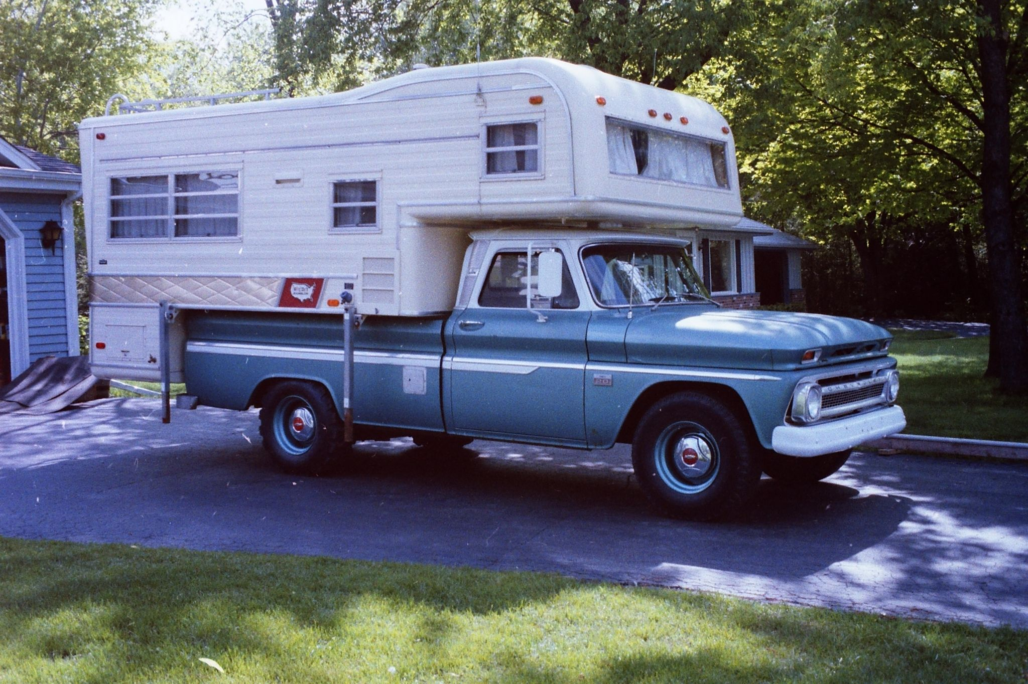 1966 C 20 Chevrolet And A 1969 Holiday Rambler Truck Camper Cool Ford Ranger Special
