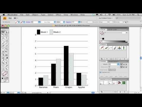 Part 1 of 2 How to make a bar chart in Adobe Illustrator - what is a bar chart