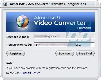 aimersoft music converter registration key