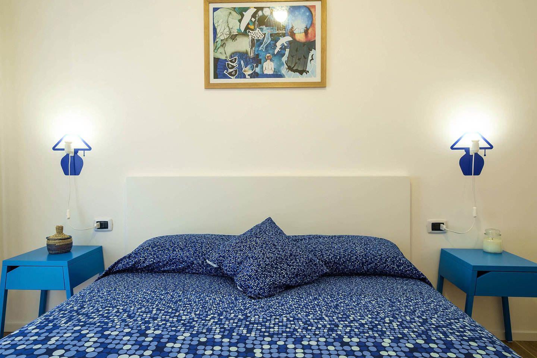 Blue Room double design ensuite bedroom #bedroom #palermo #sicily #accomodation #travel #italy