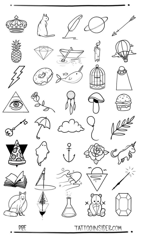 Photo of 80 petits dessins gratuits de tatouage # petit #free #tattoo femmes #TA