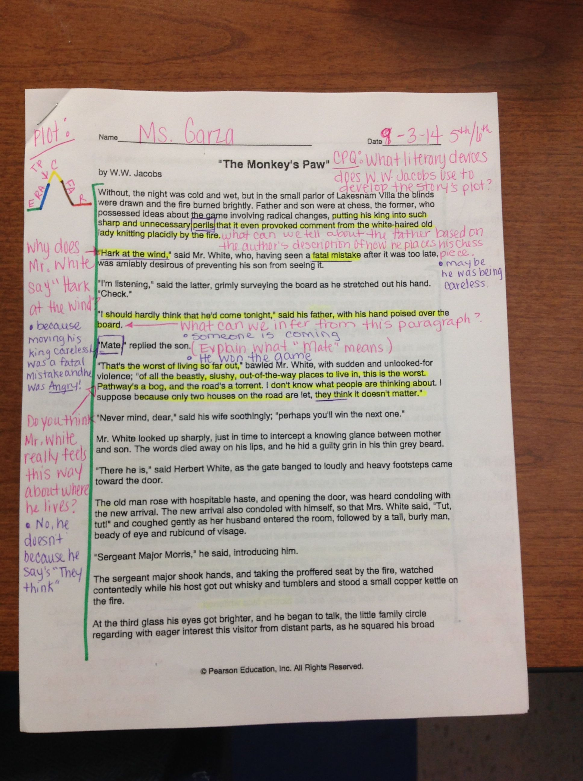 Tli Cognitive Strategy Routine On Staar Passage Teacher