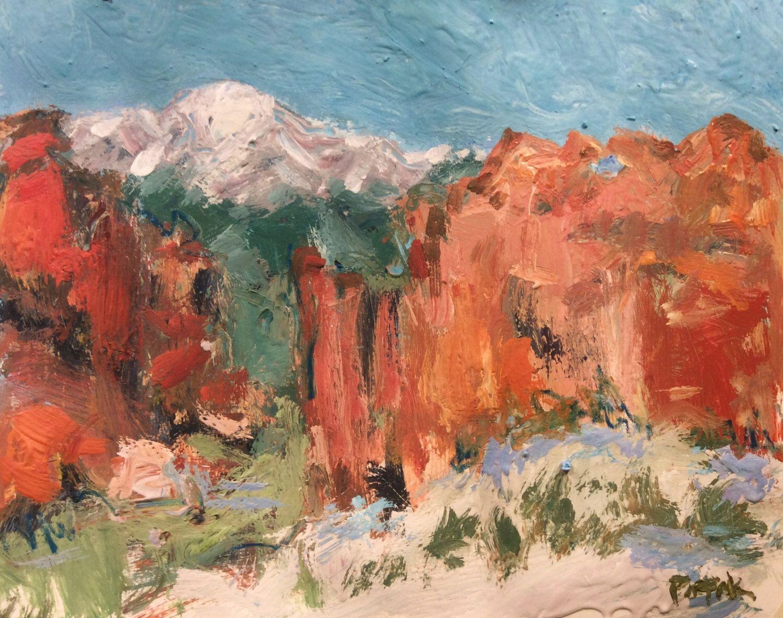 Original Southwest Impressionist Painting, Garden of the Gods ...