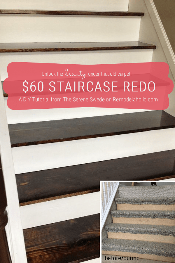 A Great Budget Update With Carpet To Wood Stairs Diy | Redoing Stairs With Wood