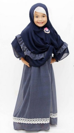 Model Busana Muslim Favorit Anak Perempuan Muslim Kids Pinterest