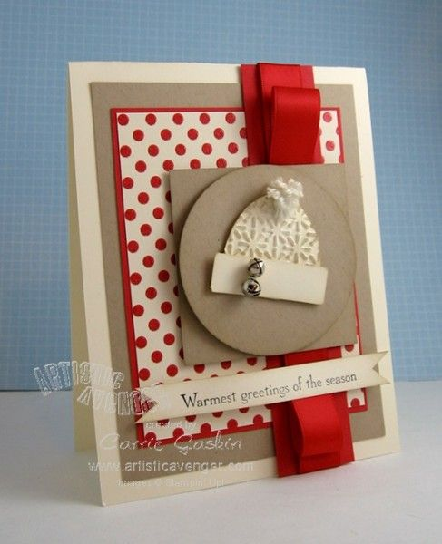 Stampin' Up!  Stocking Punch  Carrie Gaskin  Stocking Hat