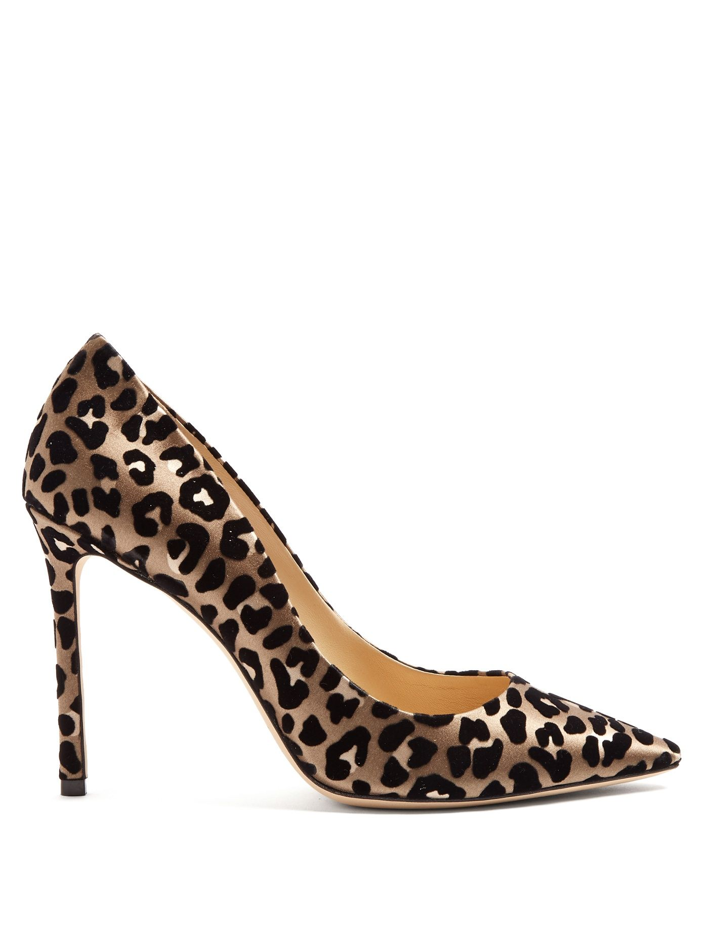 5122d8fa5d01 Romy 100mm leopard-print velvet heels | Jimmy Choo | MATCHESFASHION.COM US