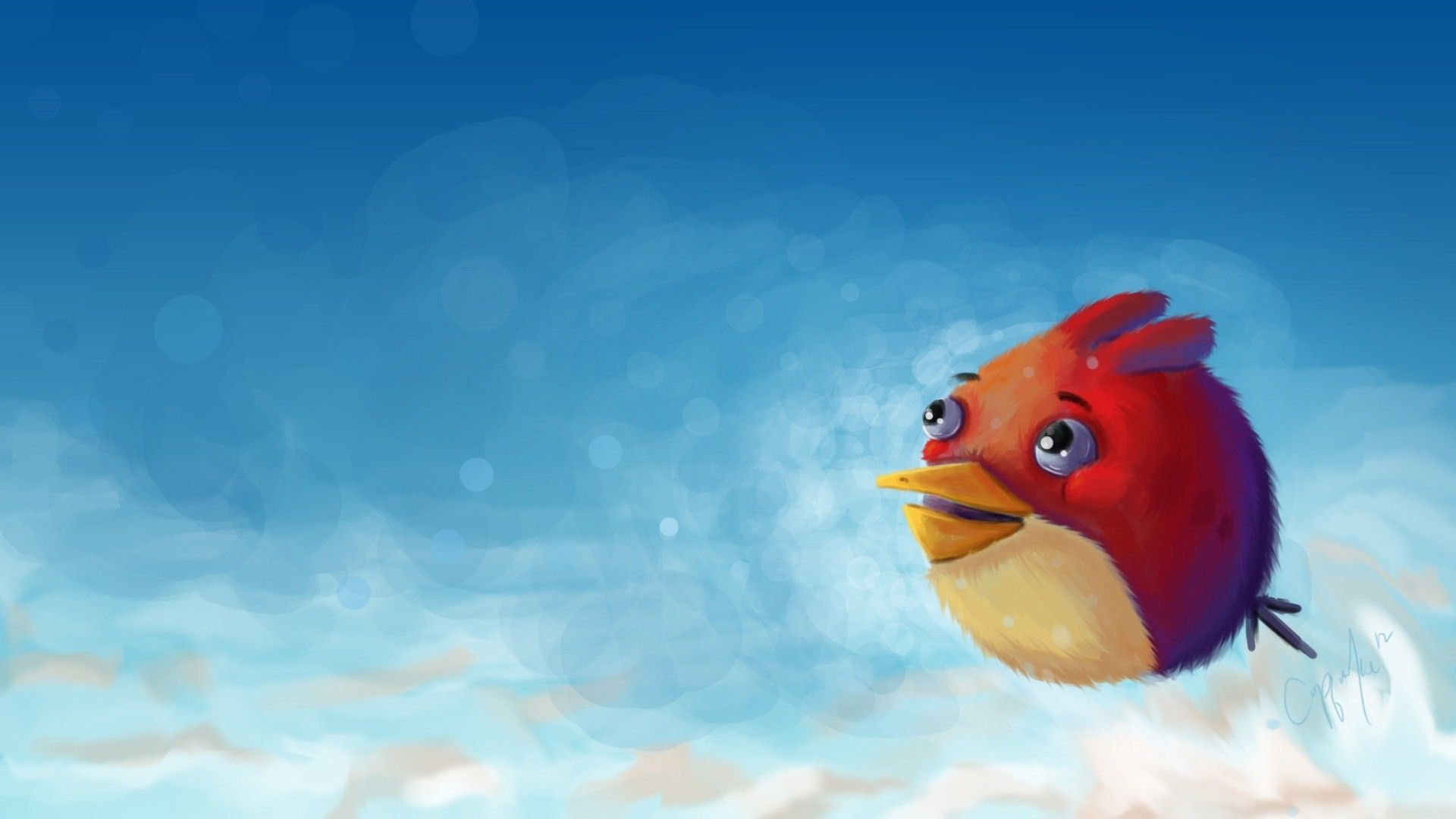 Angry Bird Art HD 1080p Wallpapers Download