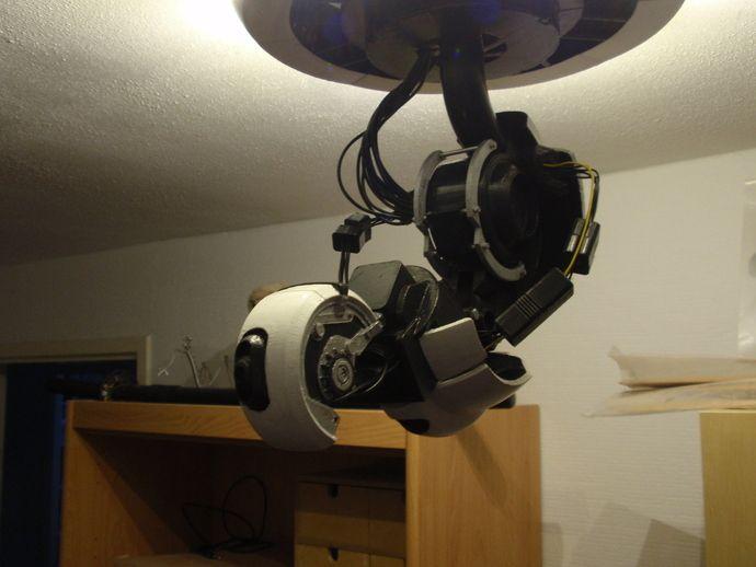 Glados Robotic Arm Ceiling Lamp By Dragonator 3d Printing 3d Printer Prints