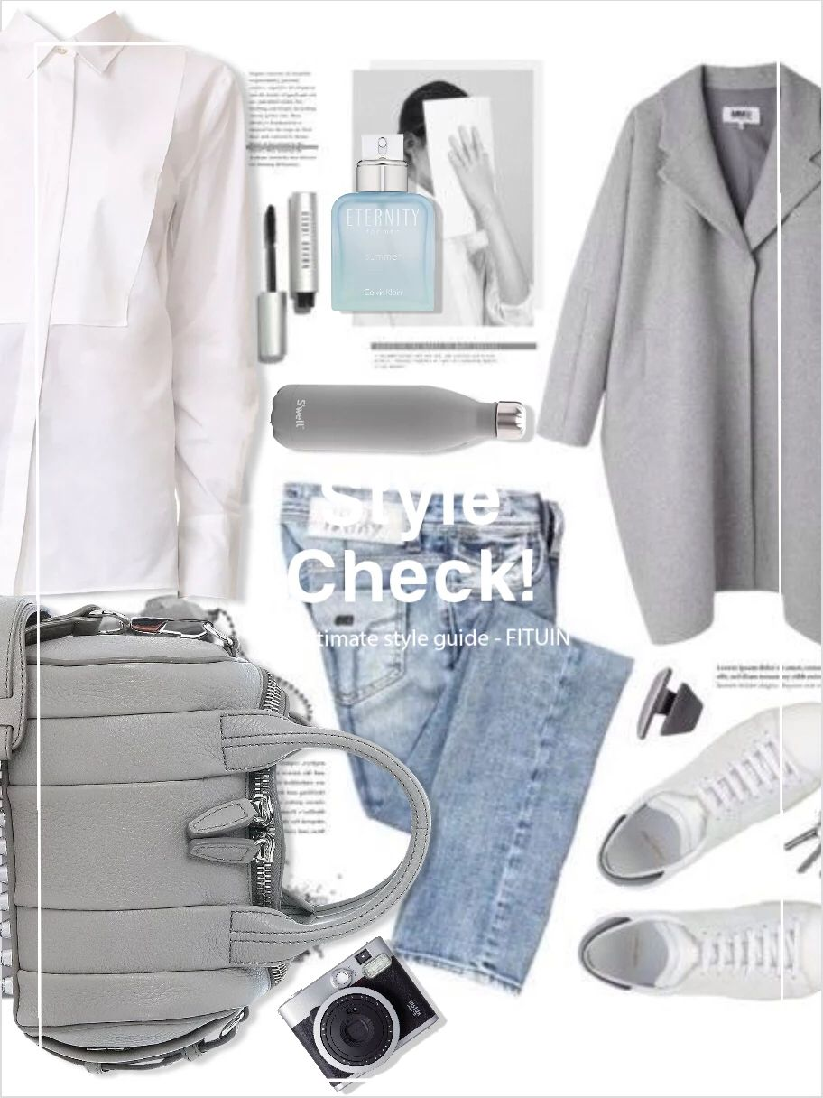 #FITUIN Shades of #gray. #neutrals #classic #basics #whiteshirt #bluejeans