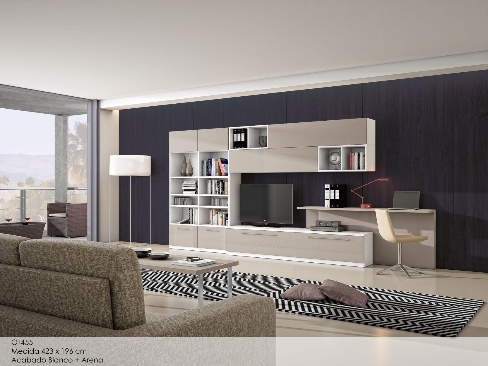 Otto colecci n de salones modernos mueble tv tv y for Escritorios para salon