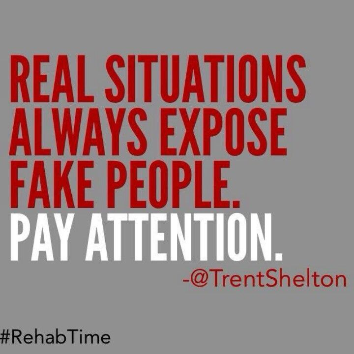 Real Situations Always Expose Fake People Only Then Will Do People