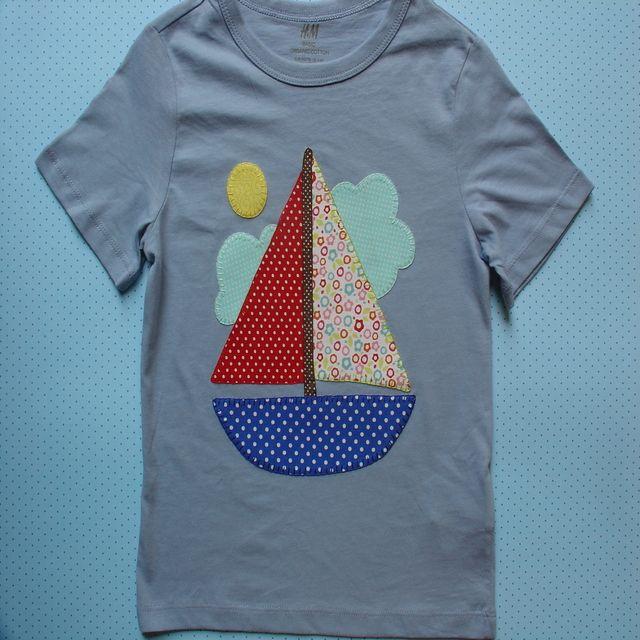 Camiseta con barco velero