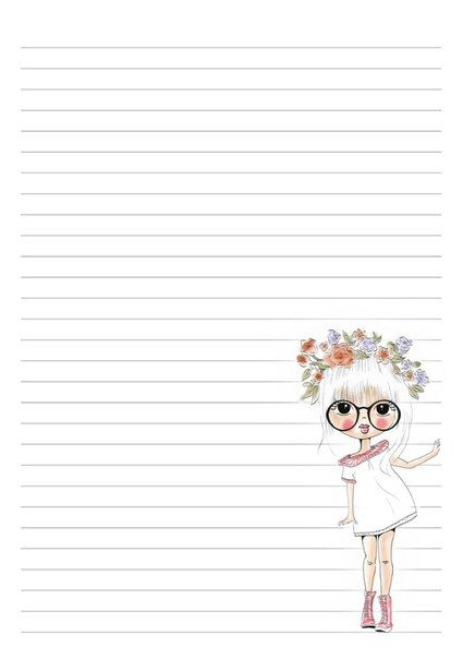 Hilaire image inside cute printable notebook paper