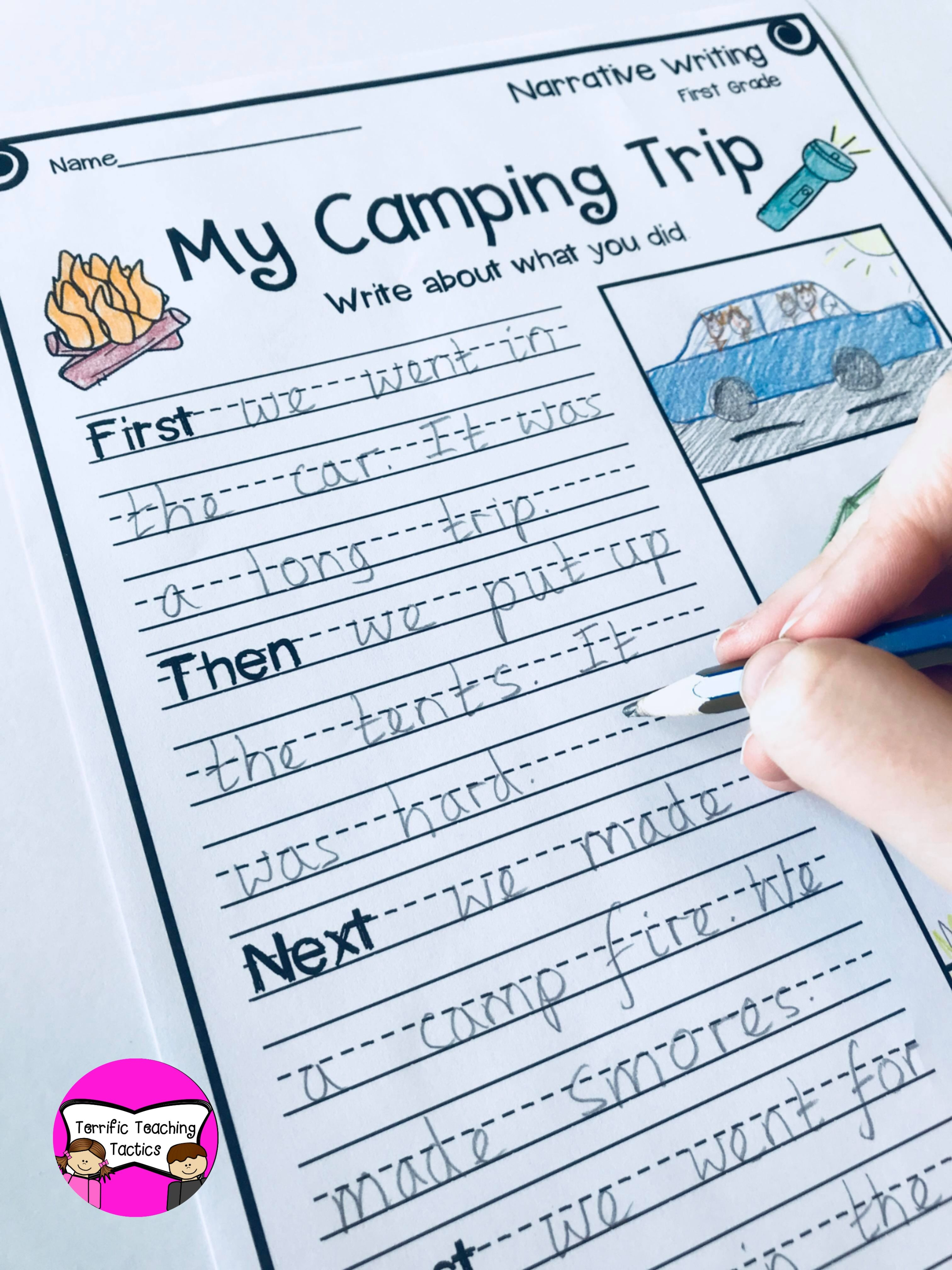 First Grade Narrative Writing Prompts Worksheets In