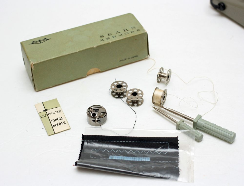 Vintage Sears Kenmore Sewing Machine Accessories Needles Amazing Sewing Machine Accessories Online