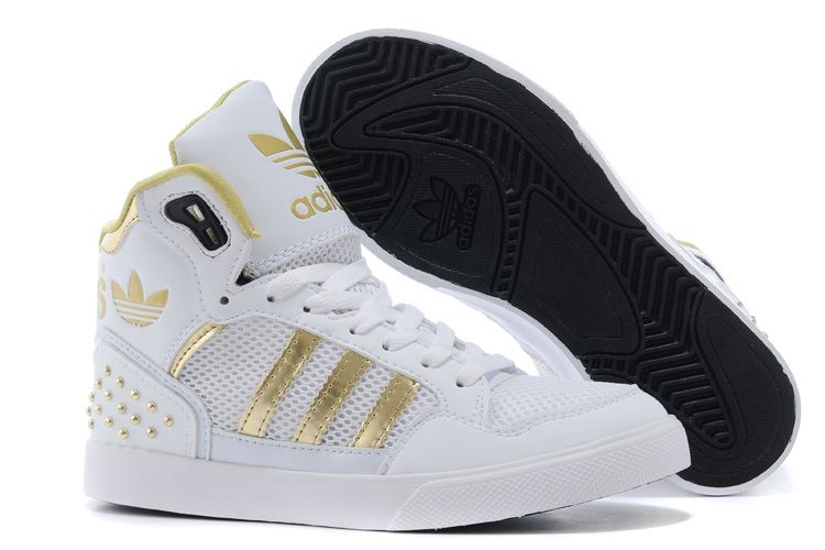 Now Buy Lastest Adidas High Top Men White Gold Save Up From Outlet Store at  Footseek.