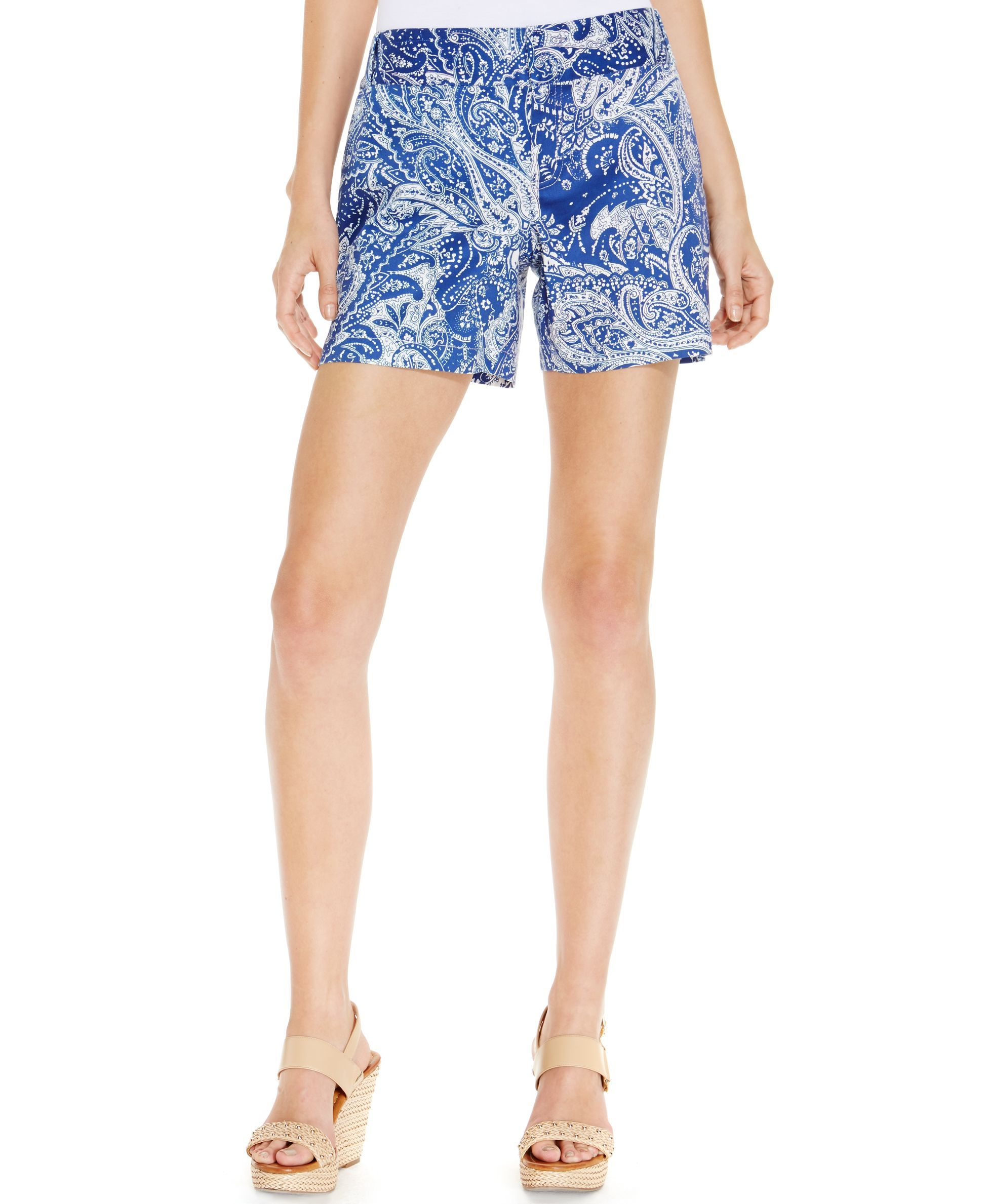 Inc International Concepts Paisley-Print Cuffed Shorts