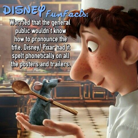 Pixar ratatouille Disney fact @disneyfunfacts