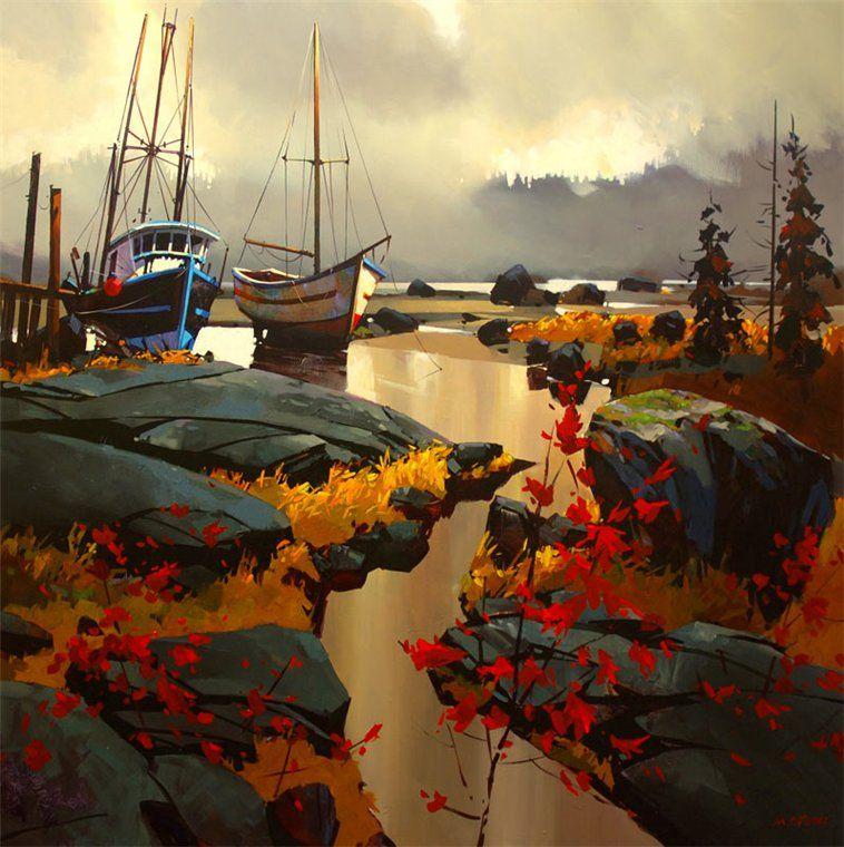 Michael O Toole Sailing Art Canadian Painters Landscape Art
