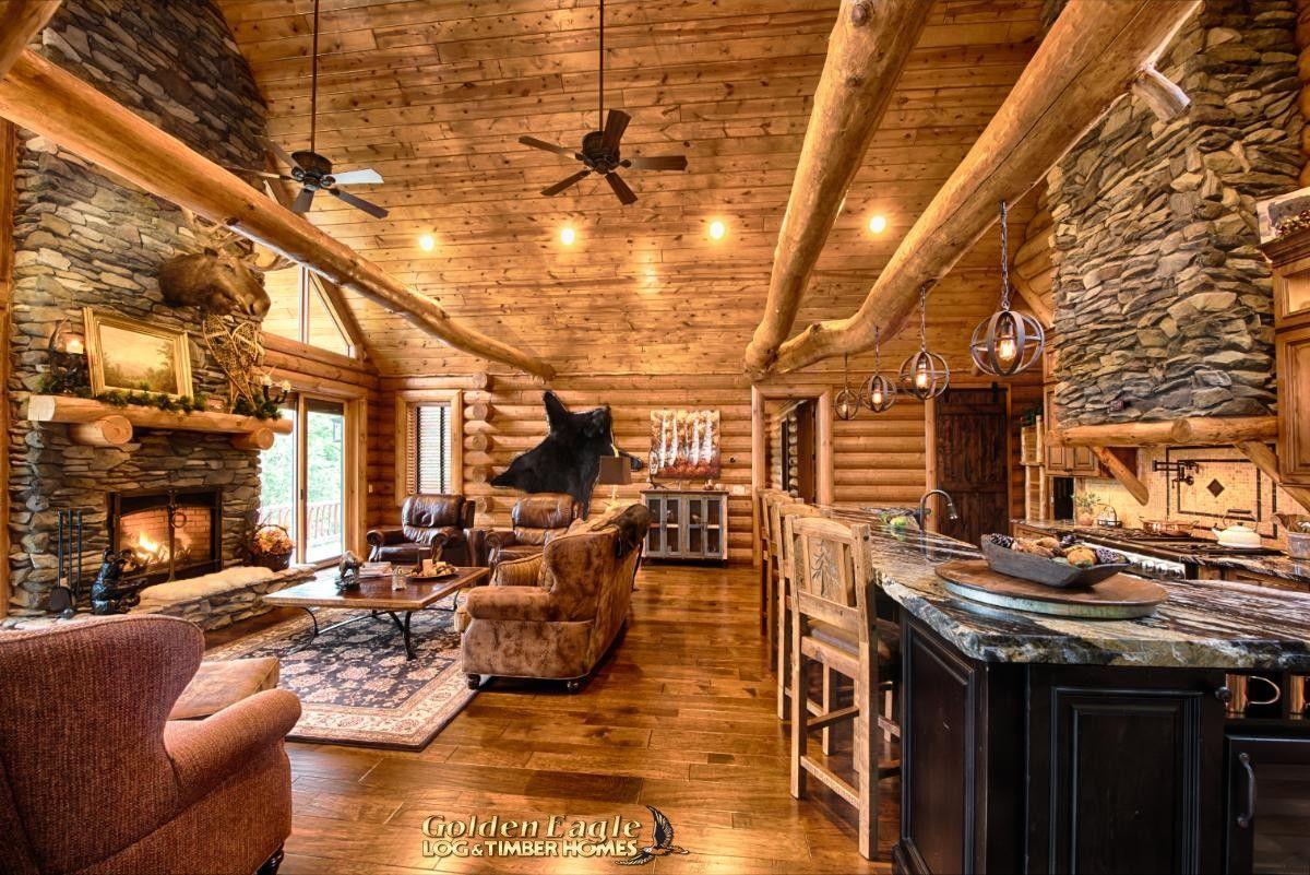 South Carolina Log Home Floor Plan By Golden Eagle Log Timber Homes In 2020 Log Home Floor Plans Log Home Interior Log Homes