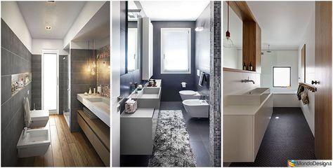 15 idee di design per arredare un bagno stretto e lungo for Arredare soggiorno rettangolare