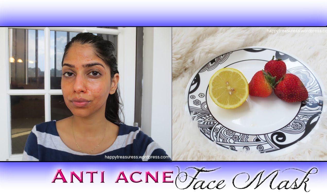 Acne free skin homemade strawberry honey face mask for
