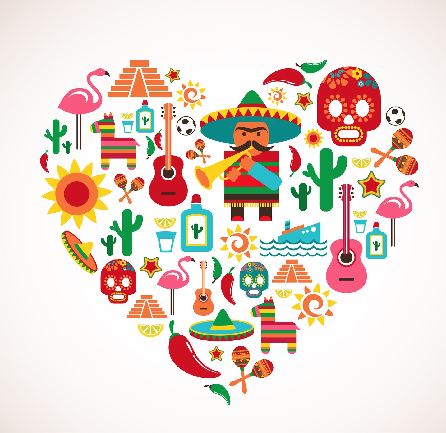 Afbeeldingsresultaat voor Mexico heart logos