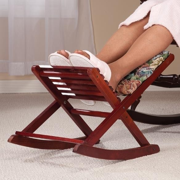 New Rocking Foldable Footrest Footstool Ottoman Stool Folding