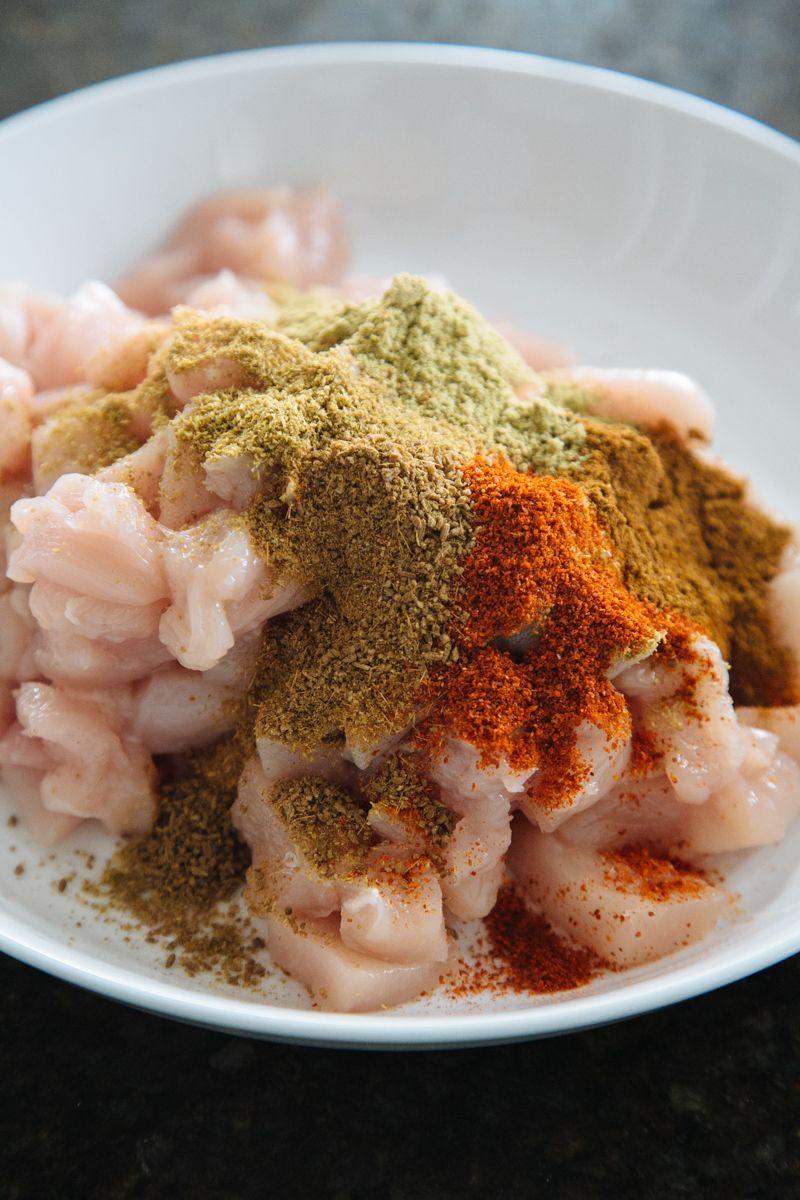 chicken kathi rolls w/ cilantro mint chutney  the chutney