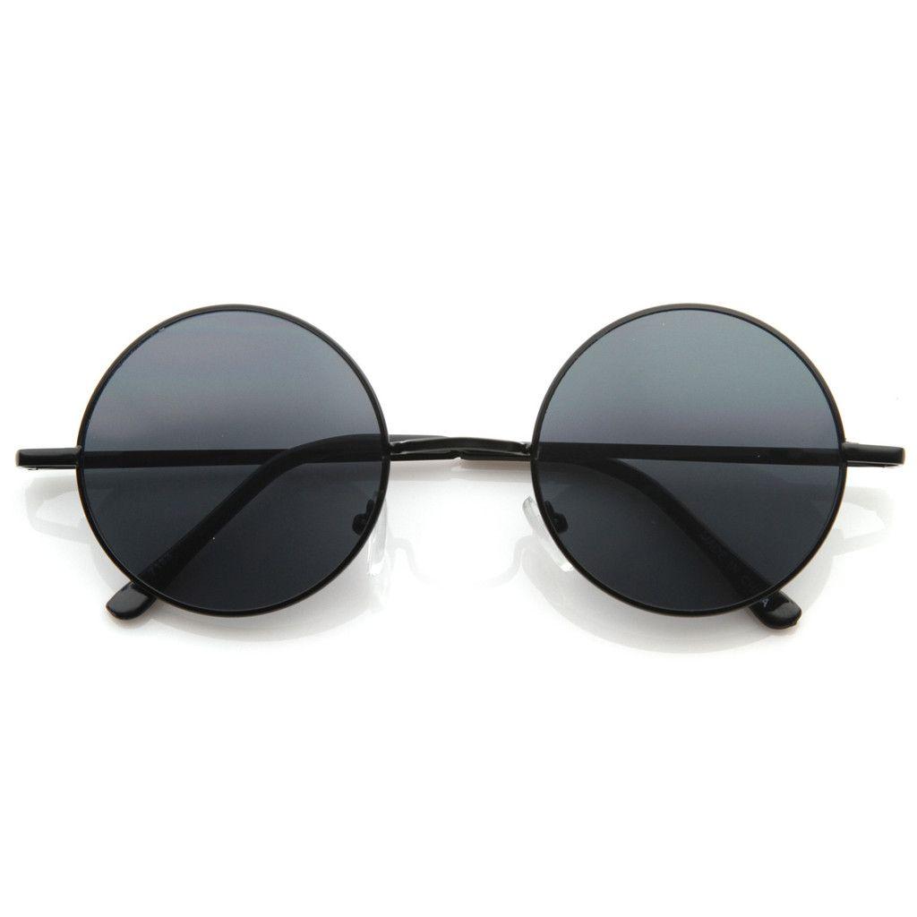 62f4e73fb3b Retro Hippie Fashion Metal Lennon Round Sunglasses Color Lens 8594