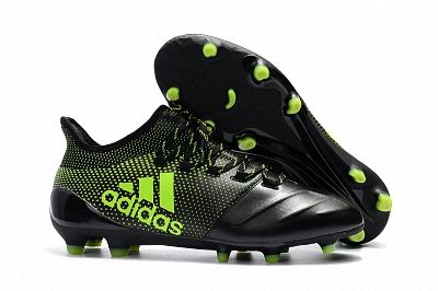 pretty nice e7e75 600c0 2018 FIFA World Cup Men Adidas X 17 1 Leather FG Football Boots Black Apple  Green
