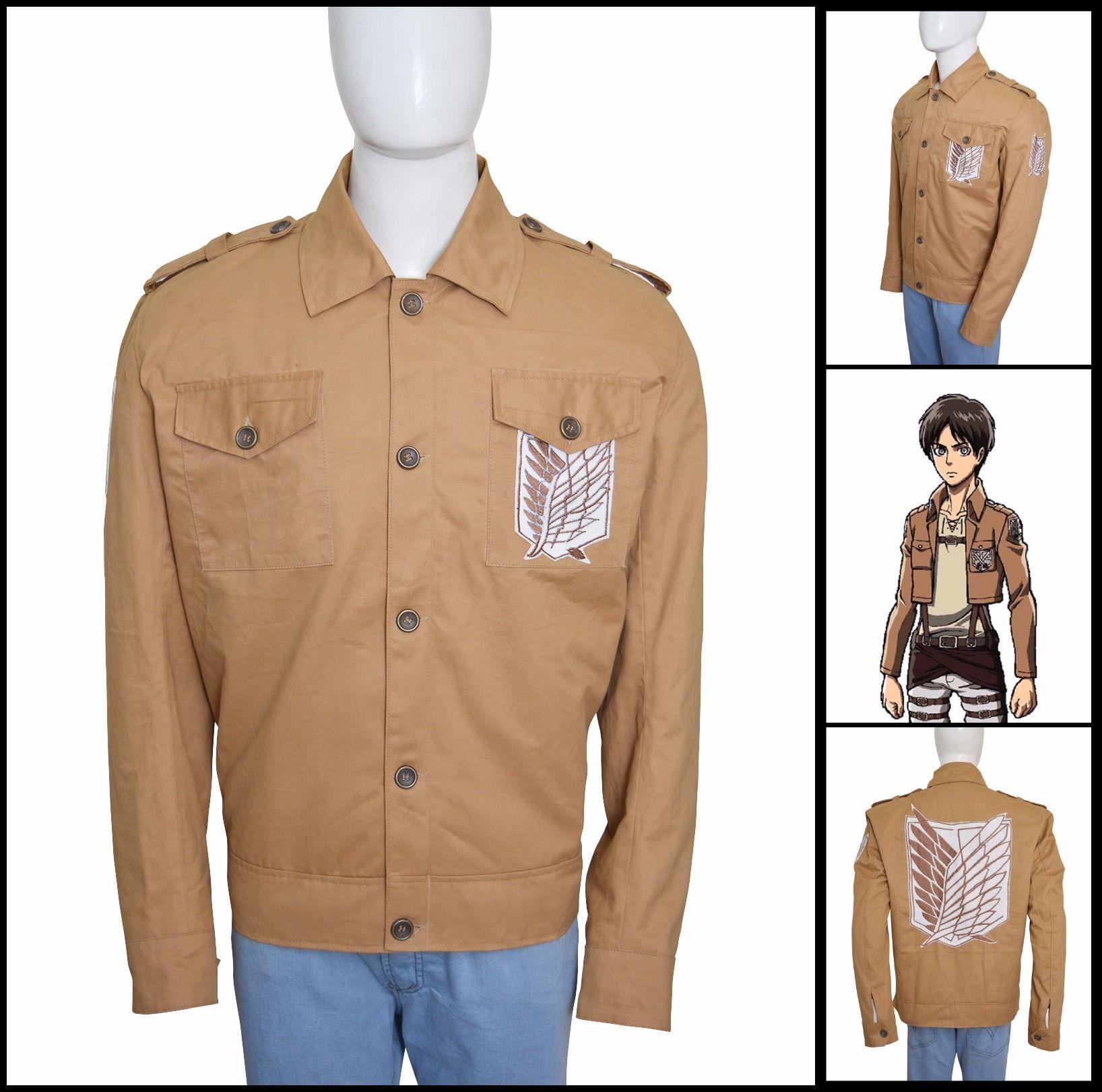 Attack On Titan TV Series Eren Yeager Cotton Jacket