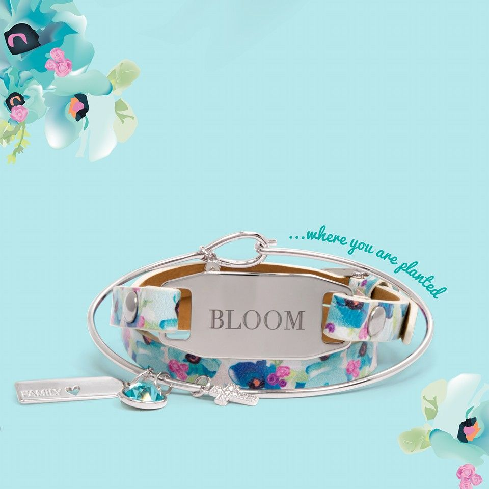 New For Spring 2016, Origami Owl Introduces The Floral Leather Wrap Bracelet!  Pair It