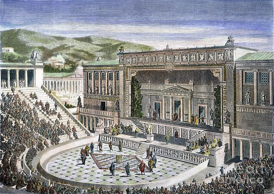 the origins of theater and drama in greece On this page we consider the theatre of ancient greece, the history of theatre as it migrated from greece to rome, and the history of medieval theatre following the.