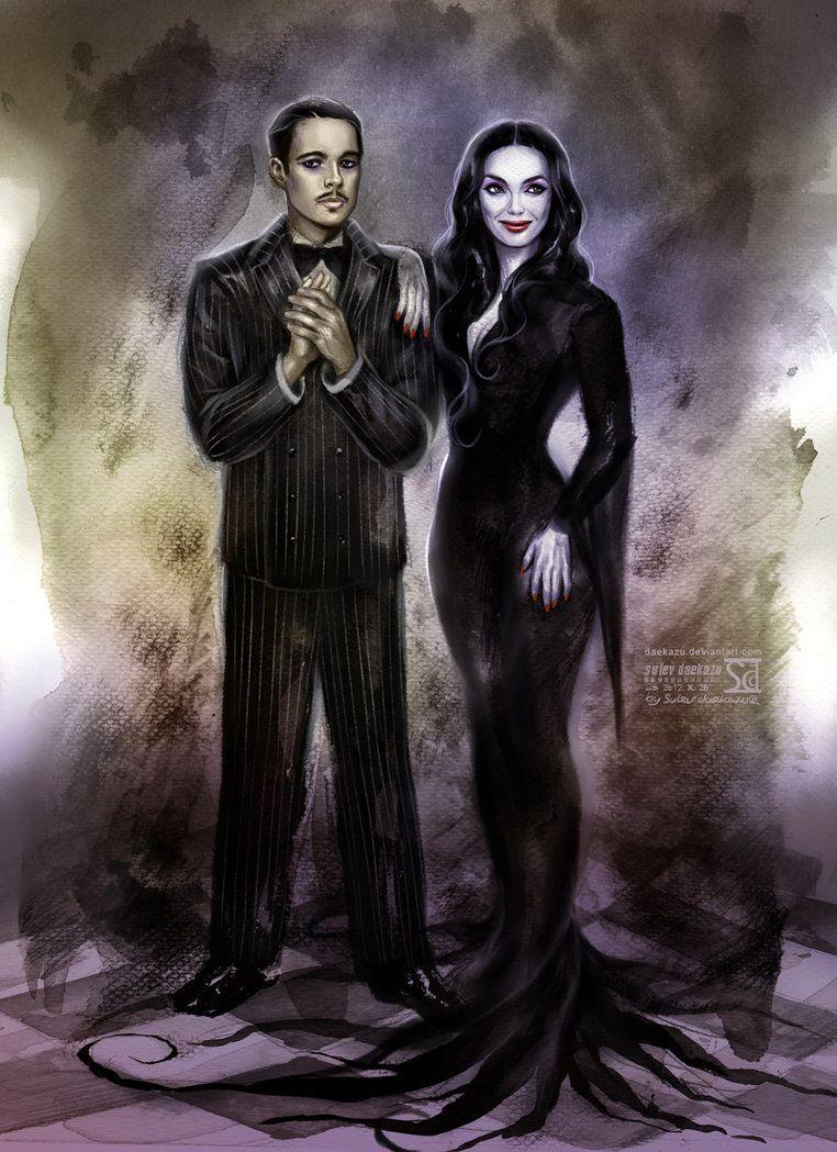 Gomez and Morticia Addams   Gomez and morticia, Family art