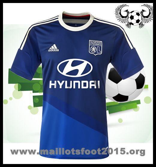 adidas Olympique Lyonnais Exterieur equipement de maillot de foot pas cher 2014-2015 blanc Hyundri