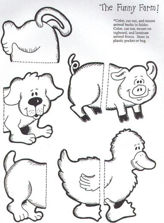 The funny farm puzzle match file folder game page 1