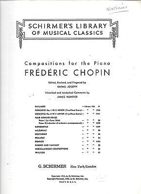 Chopin Nocturnes For The Piano Solo Music Book Schirmer 30 1 Musical Instruments Gear Sheet Music Song Books Contemporary Music Book Solo Music Song Book