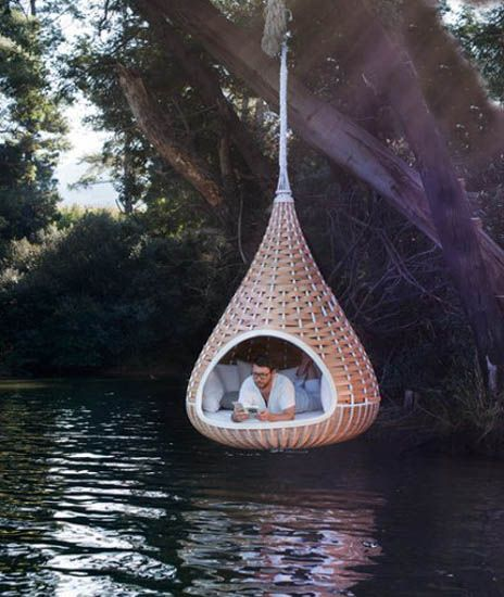 This hanging chair is like a chic indoor hammock Swing chairs