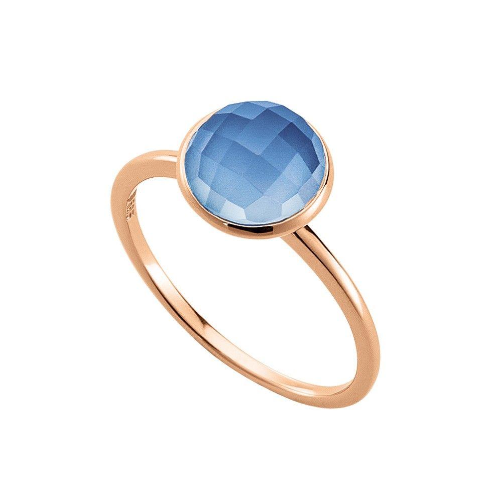eleganter ring aus 585 14 karat ros gold mittig funkelt. Black Bedroom Furniture Sets. Home Design Ideas
