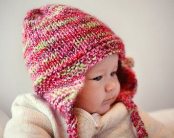 Baby Aviator Hat PDF Knitting Pattern  Cabled von LoveFibres