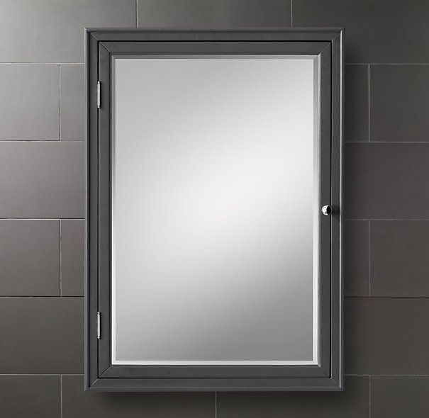 "Kent Medicine Cabinet Available In Black Small Wallmount 19""w Impressive Small Bathroom Medicine Cabinet Design Decoration"