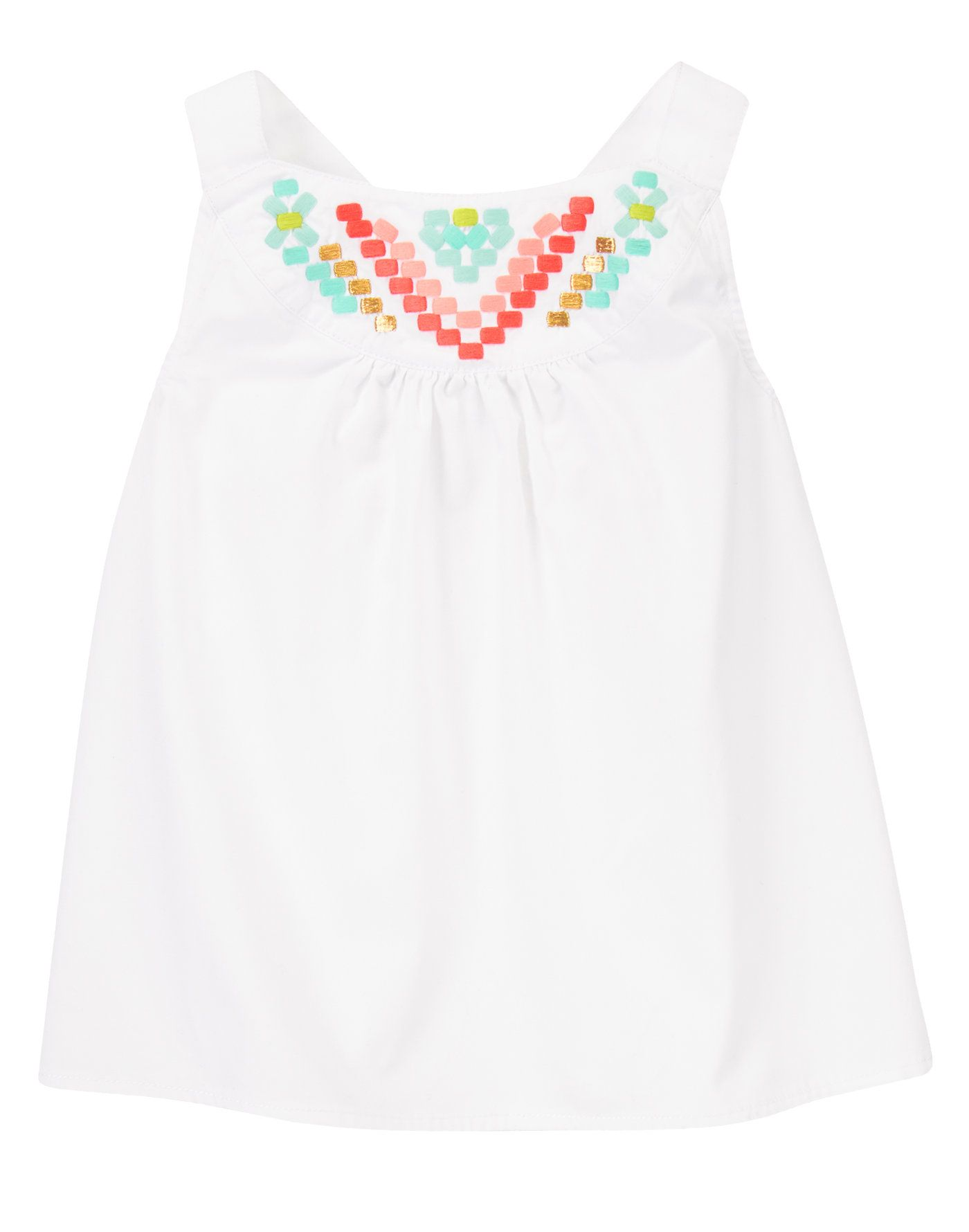 Geo Embroidered Top at Gymboree