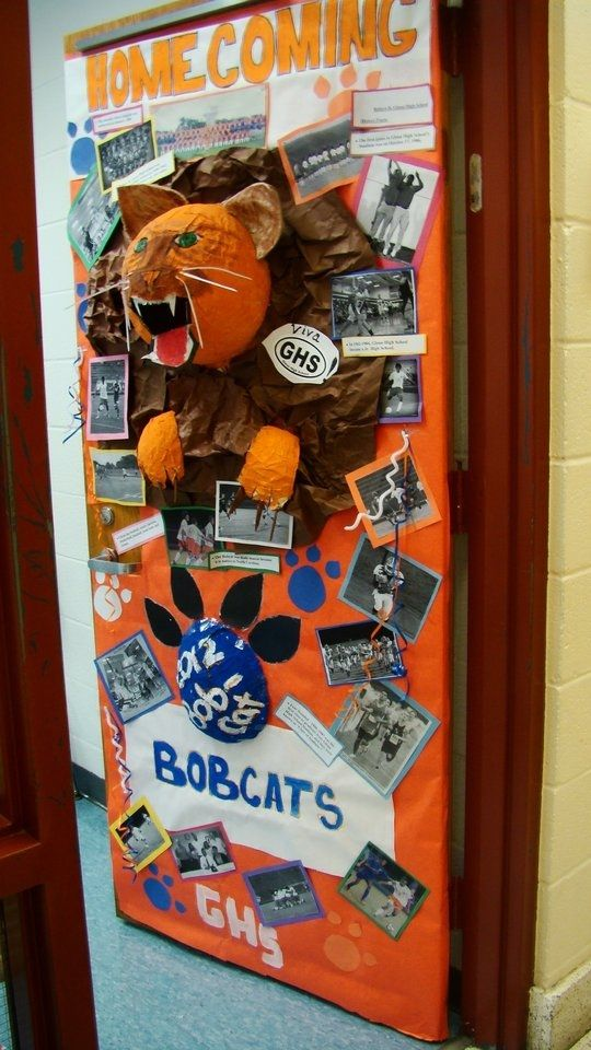 door decoration ideas for homecoming